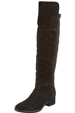 Geox Dam D Felicity I Over-The-Knee Boot, svart38.5 EU