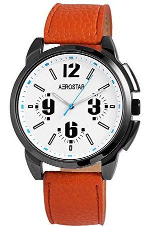 Aerostar Analog kvartsur för män med läderrem 2,11072E+11