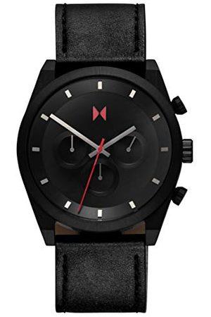 MVMT Herr analog kvartsklocka med läderrem 28000045-D