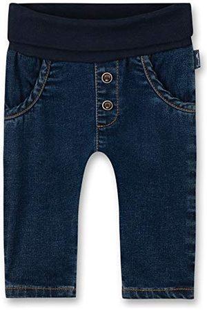Sanetta Baby-pojkar jeans mörkblå tidlös basic jeansbyxor i stil tvätt Fiftyseven