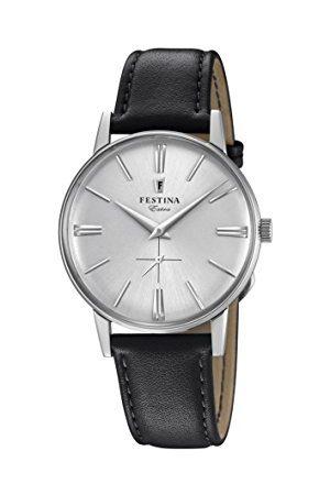 Festina Herr analog klassisk kvartsansluten armbandsur med läderrem F20248/1