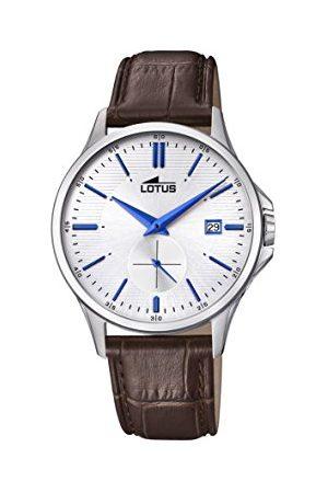 Lotus Herr datum klassisk kvartsklocka med läderarmband 18424/1