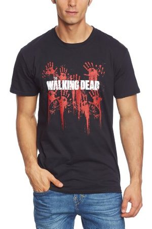 The Walking Dead Walking Dead Män Bloody Hands Logo kortärmad T-shirt