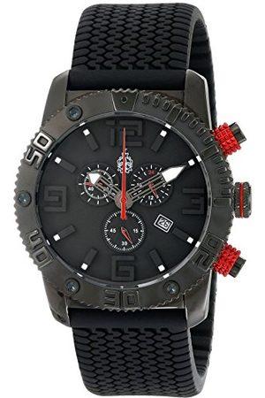 Burgmeister Kvartsklocka för män med urtavla kronograf display och silikonrem BM521-622E
