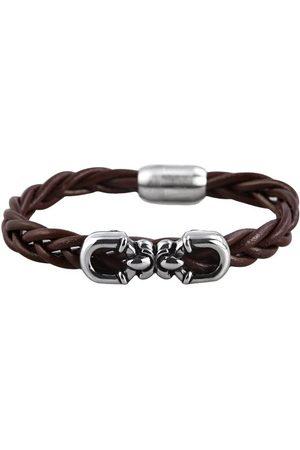 Akzent Herrarmband rostfritt stål läder 00377500070