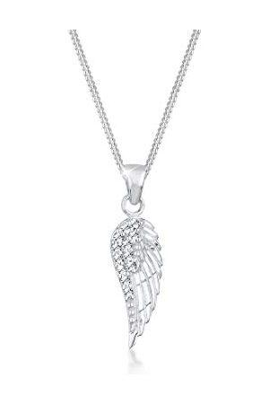 Elli Damkedja med berlock vinge 925 sterlingsilver Swarovski kristall briljantsliff 0111462713_45 e , colore: , cod. 0111462713_45