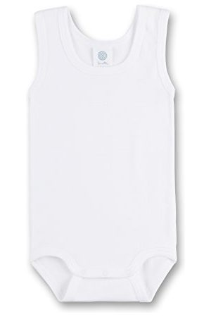 Sanetta 308300 – body ärmlös, basic collection, organic cotton vit (fler färger)