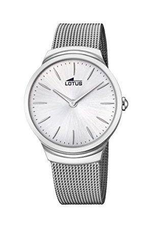 Lotus Lotus klockor herr analog klassisk kvartsklocka med rostfritt stålrem 18493/1
