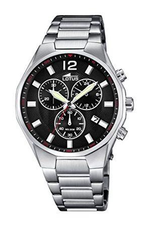 Lotus Herr kvartsklocka med urtavla kronograf display och rostfritt stål armband 10125/4