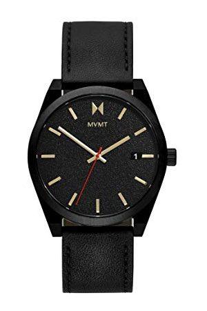 MVMT Herr analog kvartsklocka med kalvläder av läderarmband 28000053-D