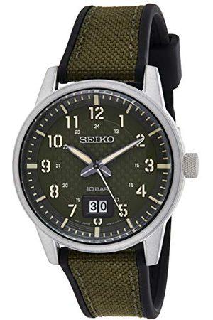 Seiko UK Limited - EU Seiko UK begränsad – EU analog kvartsklocka för män med tygrem SUR323P1