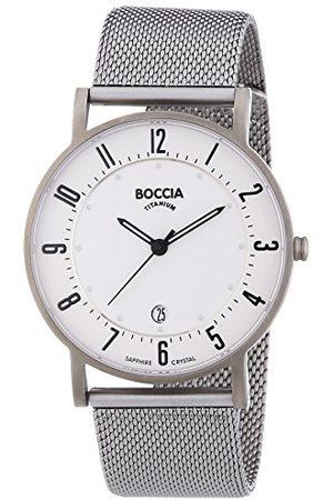 Boccia Kvartsklocka för män med urtavla analog display och titanarmband B3533-04