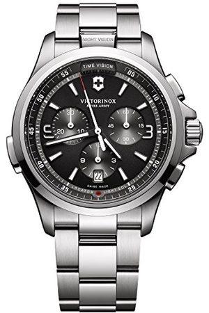 Victorinox Mäns kronograf kvarts klocka med rostfritt stål armband 241780