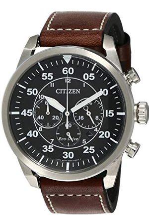 Citizen Herr kronograf kvartsklocka med läderrem CA4210-16E