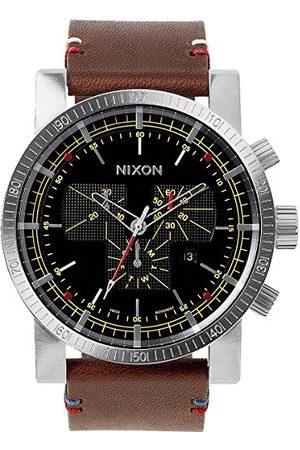 Nixon Herrarmbandsur magnacon läder II / analog kvarts läder A458019-00