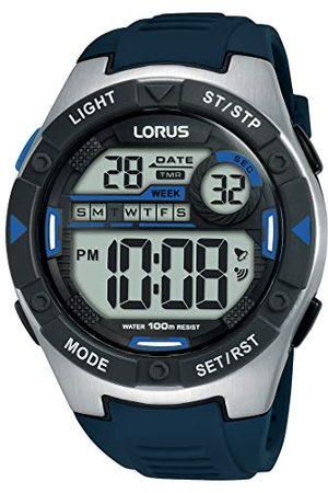 Lorus Sport herrklocka kronograf rostfritt stål och plast med silikonband R2395MX9