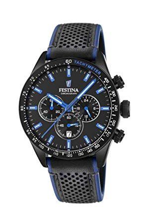 Festina Mäns kronograf kvarts klocka med läder armband F20359/3
