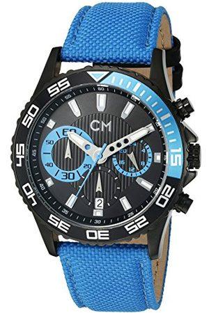 Carlo Monti Avellino kvartsklocka för män med urtavla kronograf display och tygrem CM509-663