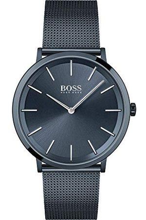 HUGO BOSS Herr analog kvartsklocka med rostfritt stålrem 1513827