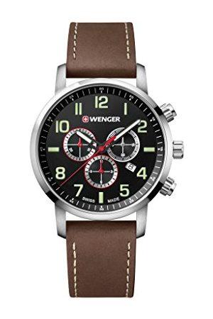 Wenger Unisex vuxenarmbandsur kronograf kvarts läder 01.1543.103