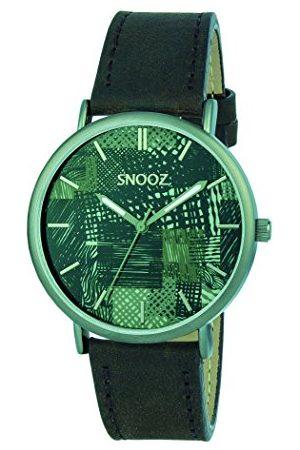 Snooz Herr analog kvartsklocka med läderarmband Saa1041-77