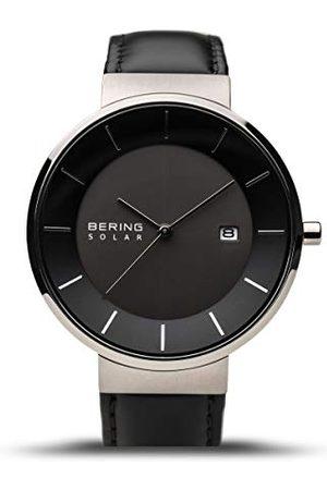 Bering Herrar analog kvarts klocka med läder armband 14639-402