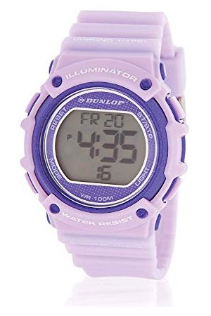 Dunlop Unisex vuxna digital kvartsklocka med rostfritt stål armband DUN249L09