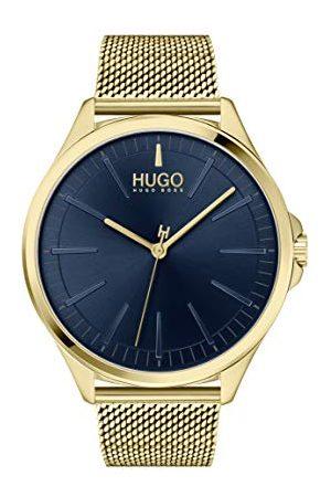 HUGO BOSS Herr analog kvartsklocka med rostfritt stålrem 1530178