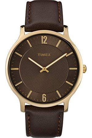 Timex Herr analog kvartsklocka med läderarmband TW2R49800