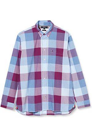 Tommy Hilfiger Herr Flex Houndstooth Check Shirt skjorta
