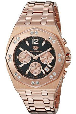 Daniel Wellington Darfield kvartsklocka för män med urtavla kronograf display och rosé rostfritt stål pläterat armband WN511-328