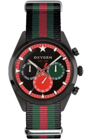 Oxygen Unisex-armbandsur roma 40 analog kvarts nylon EX-SDT-ROM-40-NN-BLGNRE