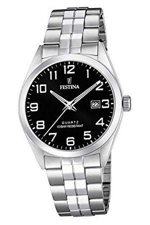Festina Herr analog kvartsklocka med rostfritt stål armband F20437/4