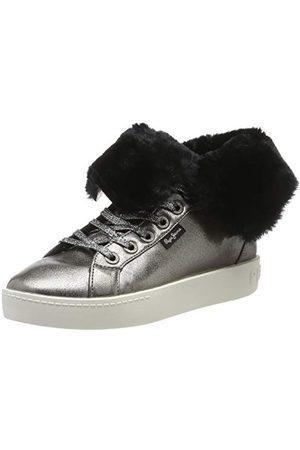 Pepe Jeans Dam Brixton flap hög sneaker, krom 952-36 EU