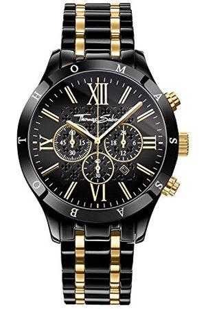 Thomas Sabo Mäns armbandsur kronograf kvarts rostfritt stål WA0264-278-203-43 mm