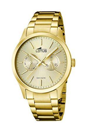 Lotus Herr analog kvartsklocka med rostfritt stål armband 15955/2