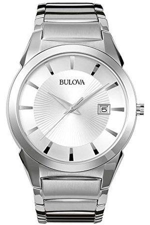 BULOVA Herr analog klassisk kvartsklocka med rostfritt stålrem 96B015