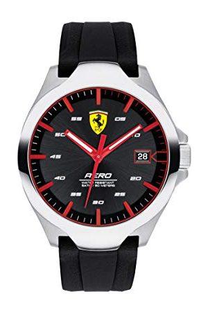 Scuderia Ferrari Unisexvuxen analog klassisk kvartsklocka med silikonrem 0830506