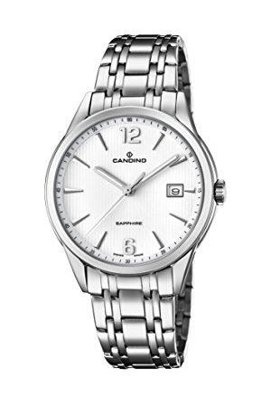 Candino Herr datum klassisk kvartsklocka med rostfritt stål armband C4614/2