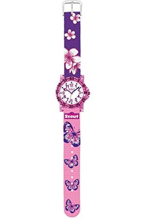 Scout Flicka analog kvartsklocka med tyg armband 280375013
