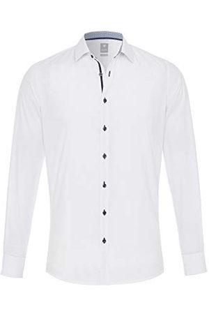 Pure Herr 4014-196 City silver långärmad klassisk skjorta, uni , M