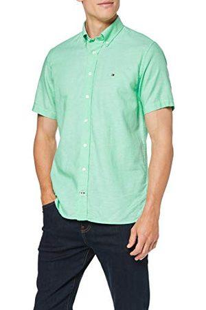 Tommy Hilfiger Herr Cotton Linen Dobby Shirt S/S fritidsskjorta