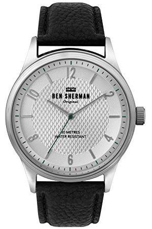 Ben Sherman Herr analog kvartsklocka med läderarmband WB025B