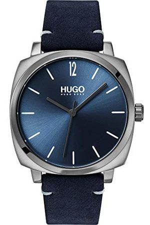 HUGO BOSS Herr analog kvartsklocka med läderarmband 1530069