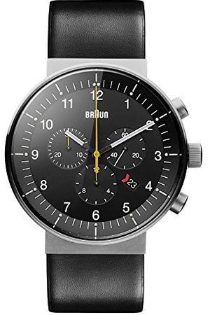 von Braun Mäns analog kvarts klocka med läderarmband BN0095SLG