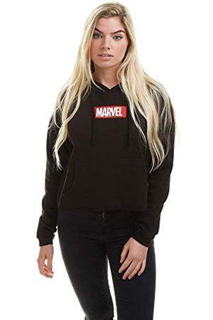 Marvel Damlåda logotyp beskuren huvtröja