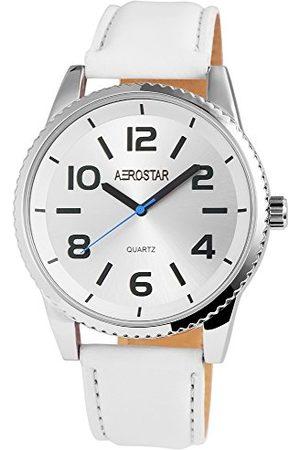 Aerostar Herr analog kvartsklocka med läderrem 2.11023E+11