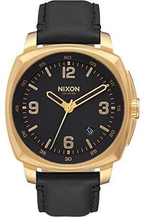 Nixon Herr analog kvartsklocka med läderarmband A1077513-00