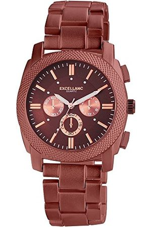 Excellanc Herr analog kvartsklocka med olika material armband 28095700002
