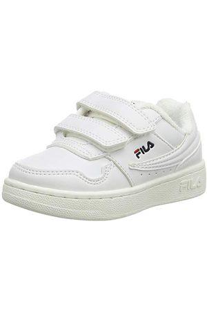 Fila Unisex baby arkad kardborrband sneaker, vit23 EU